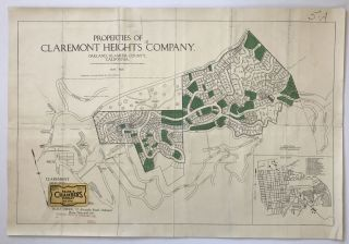Properties of Claremont Heights Company, Oakland, Alameda County, California. California