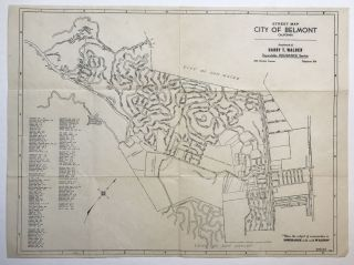 Street Map, City of Belmont, California [caption title]. California