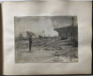 Early 20th-Century Vernacular Photo Album with Images of a Trip to Yellowstone]. Western...