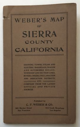 Weber's Map of Sierra County California [cover title]. California