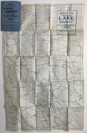 Denny's Pocket Map of Lake County California 1904 [caption title].