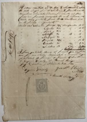 Manuscript List of Chinese Laborers on a Plantation and Their Payments