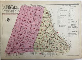 Land Book of the Borough of Manhattan, City of New York. Desk and Library Edition. New York