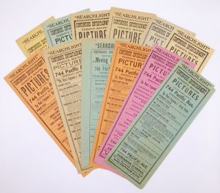 Collection of Twelve Broadsides Advertising Programs at an Early Tacoma Movie Theater Owned by a...
