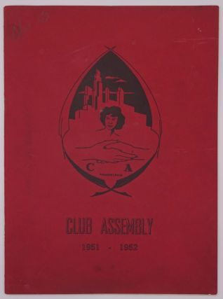 Club Assembly 1951-1952 [cover title]. African-Americana