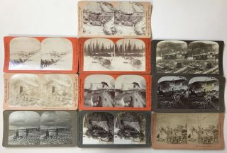 Group of Ten Stereoviews Depicting Scenes from the Alaska Gold Rush]. Alaska, Western Photographica