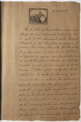 [Manuscript Documents Relating to an 1885 Legal Claim by a Cuban Slave for His Manumission]