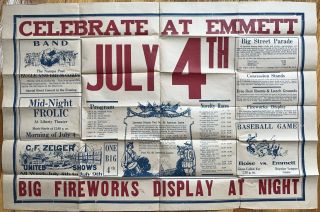 Celebrate at Emmett July 4th. Big Fireworks Display at Night [caption title]. Idaho