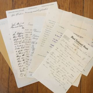 Small Collection of Twelve Documents Relating to the Mining Enterprises of J.A. Dimick in...