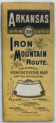 Arkansas Via Iron Mountain Route [cover title]. Arkansas, Missouri