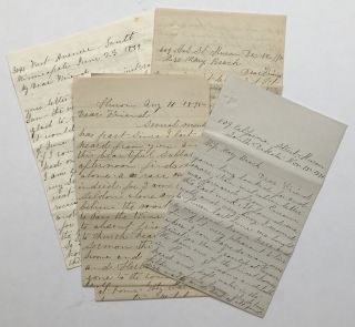 Four Letters Written by Mary E. Fisher to Her Friend, Mary Beach, Discussing Life in South...