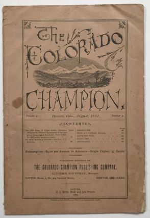 The Colorado Champion. Vol. 1, No. 2. Colorado Periodicals