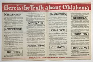 Here Is the Truth about Oklahoma [caption title]. Oklahoma