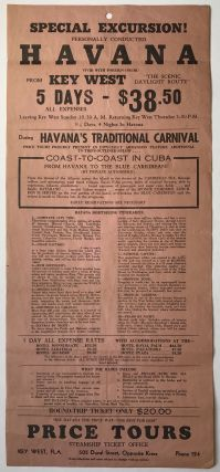 "Special Excursion! Personally conducted Havana Vivid with Foreign Color! From Key West ""the..."