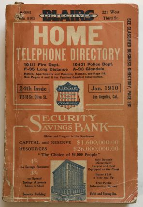 Directory of Home Telephone and Telegraph Company January, 1910. California
