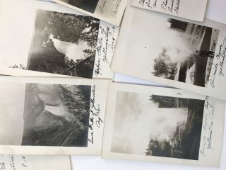 Collection of Twenty-two Vernacular Real Photo Postcards of Yellowstone National Park]. Wyoming