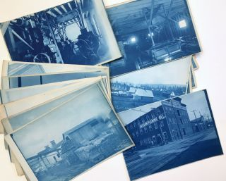 Small Archive of Sixteen Cyanotypes of the Lumber Industry in Oregon, in and Around Portland]....
