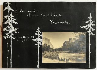A Souvenir of Our First Trip to Yosemite June 16 to 24, 1923 [manuscript title]. Western...