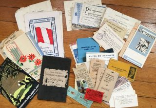 [Archive of Notes and Ephemera Relating to the Traffic and Transit of Lima and Santiago]