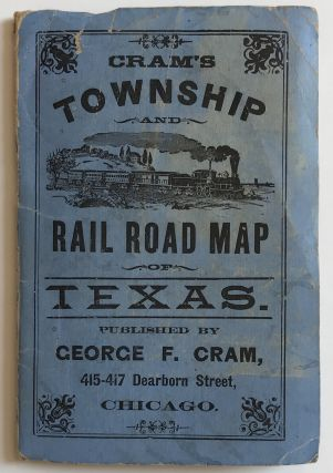Railroad and County Map of Texas. Texas