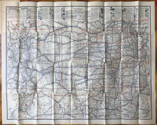 Rand McNally Official 1922 Auto Trails Map District No. 12. Kansas, Motoring