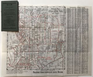 Midget Map of Pasadena and Vicinity. California