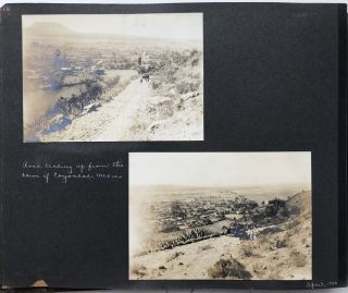 Annotated Photo Album of an Automobile Trip Through Mexico at the Turn of the Century]. Mexican...