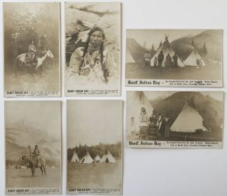 Six Real Photo Postcards of Banff Indian Days in Alberta]. Native Americans, Canada